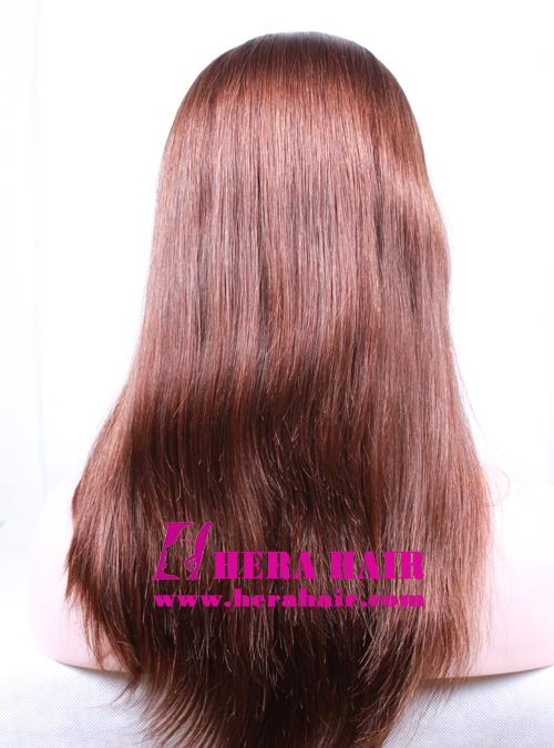 Hera 14 inches 8/10 European Hair Band Fall Sheitels Back Photoes