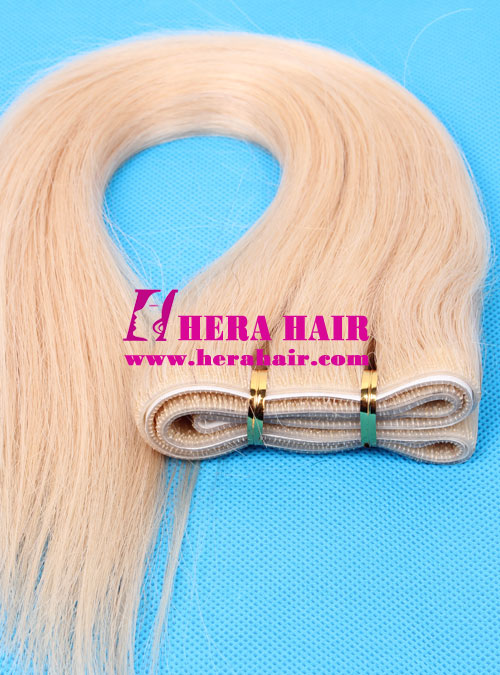 14 inches #22 Brazilian Hand Tied Tape In Hair Extensions