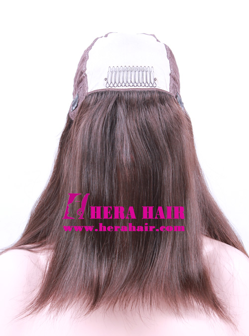 14 inches #4 European Hair Kosher Women Wigs Inside Picture