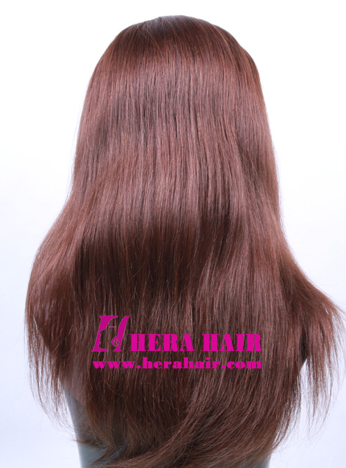 14 inches #6 Band Fall Kosher Women Wigs Back Picture