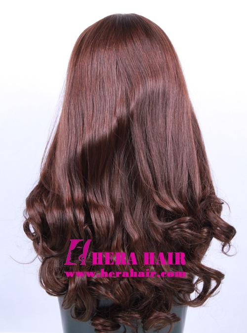Hera 16 inches Wavy European Hair Jewish Wigs Back Photo