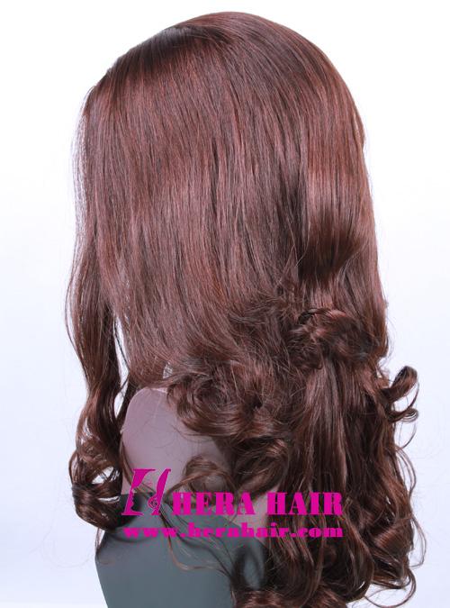 18 inches #6 Wavy Band Fall Kosher Women Wigs