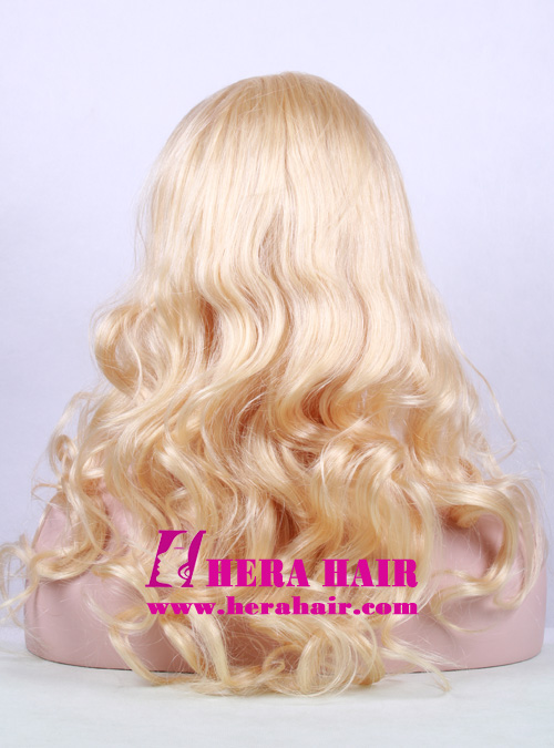 20 Inches Wavy 613 Blonde Full Lace Wigs