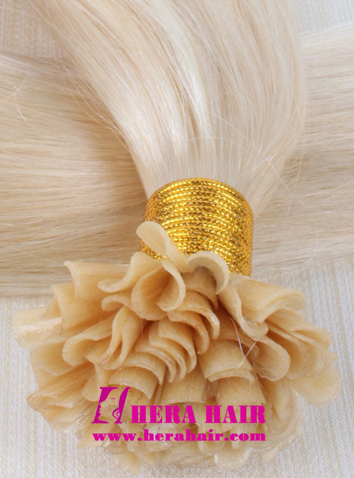 Hera #613 Blonde Nail Brazilian Fusion Hair Extensions