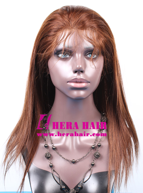 Hera 14 inches #3 Brown Indian Virgin Hair Full Lace Wigs