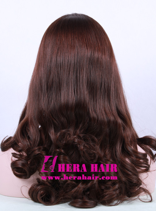 Hera 16 inches #6 Wavy European Hair Sheitels Back Picture