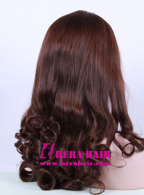 Hera 16 inches #6 Wavy European Hair Sheitels Side Picture