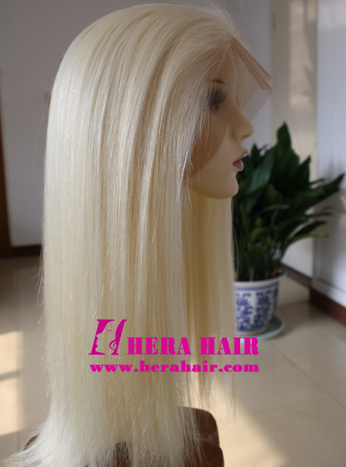 Hera 18 inches Straight 613 Blonde Full Lace Wigs