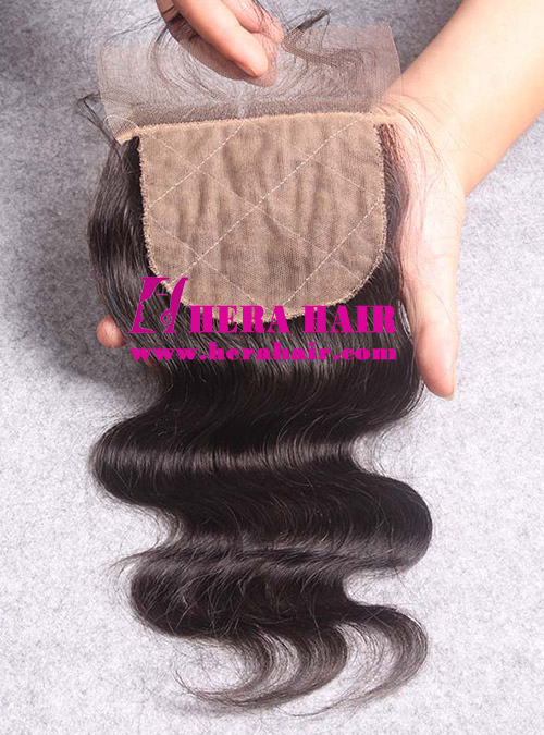 Wavy European Virgin Hair Silk Base Lace Closures