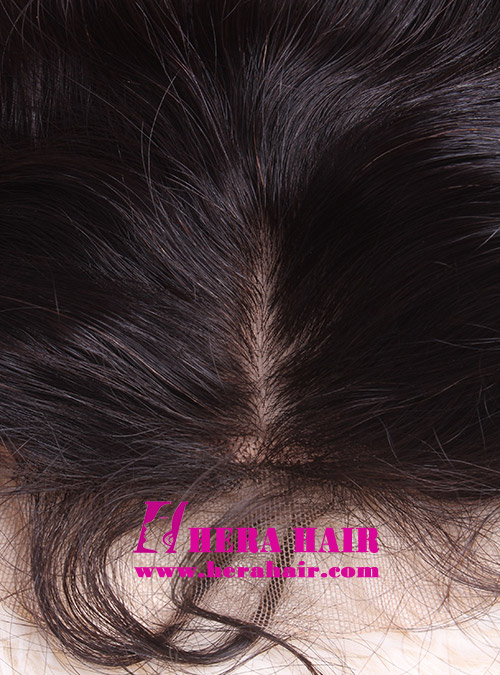 Wavy European Virgin Hair Silk Base Lace Closure Hairline