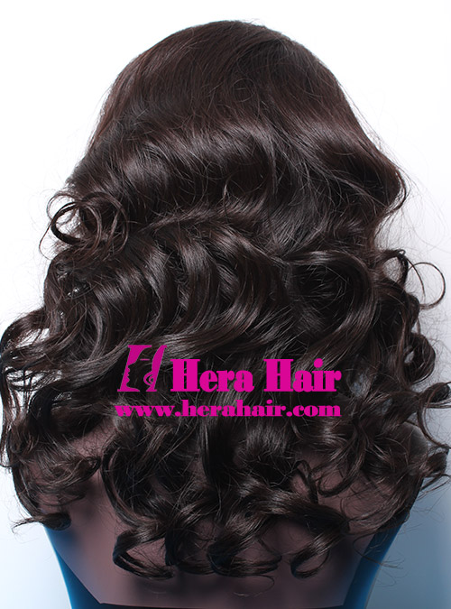 Hera Custom Black Gold European Hair Glueless Full Lace Wigs Black Picture