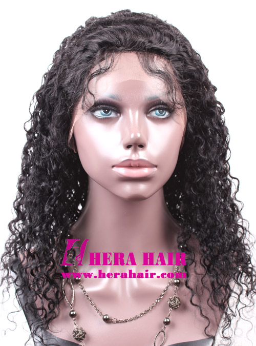 Hera Stock 18 inches Curly Indian Remy Hair Full Lace Wigs