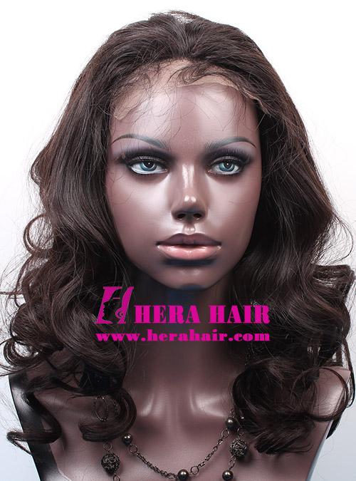 Custom Black Gold European Hair Glueless Full Lace Wigs