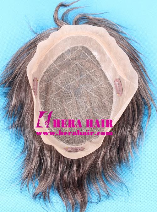 Hera 7.75*10 Lace + PU Cap Men's Toupees