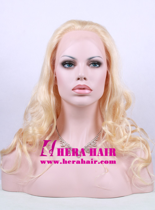Hera Natural Hairline 20 Inches Wavy 613 Blonde Full Lace Wigs