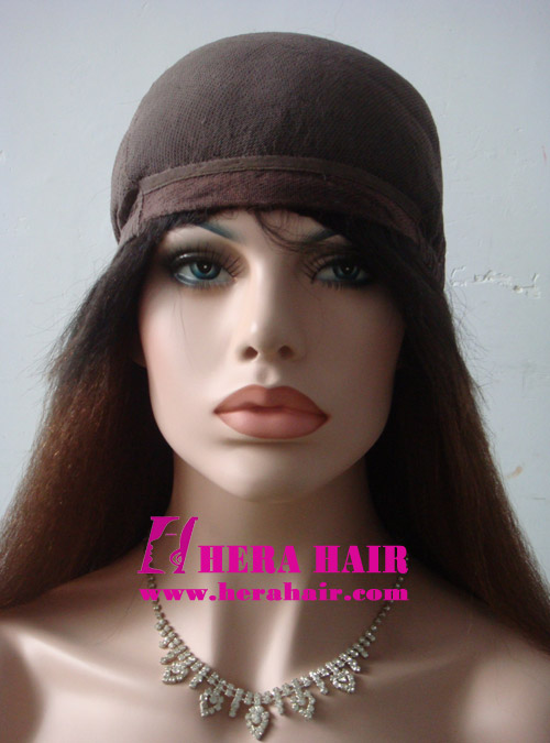Kinky Yaki Ombre Color Glueless Full Lace Wigs
