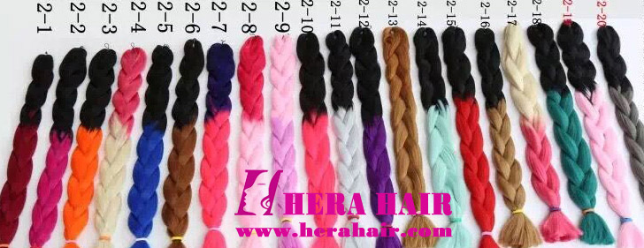 Hera Ombre Synthetic Jumbo Braids Color Number