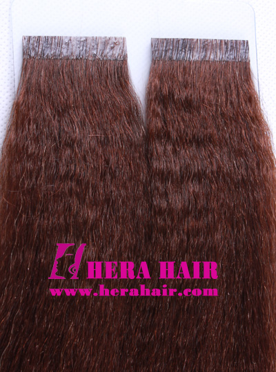 "Hera 10"" Kinky Yaki #3 Indian Tape Hair Extensions"