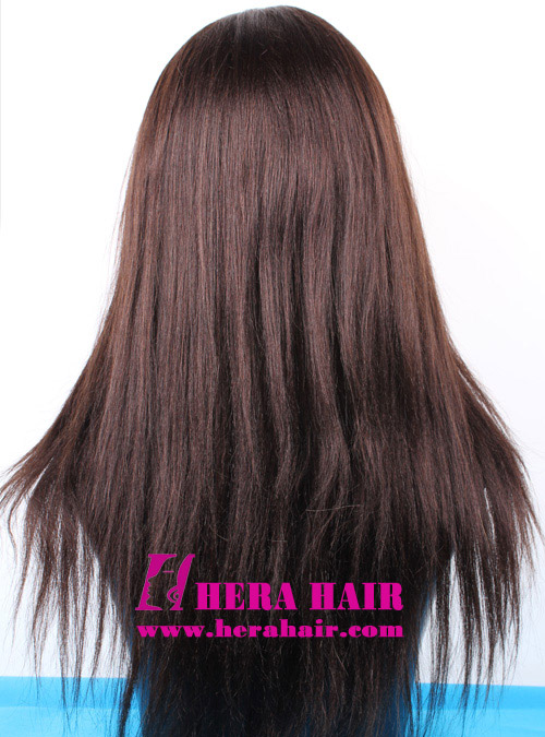 Hera Custom 16 inches Yaki Indian Remy Hair Full Lace Wigs Back