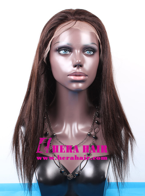 Hera Custom 16 inches Yaki Indian Remy Hair Full Lace Wigs Face