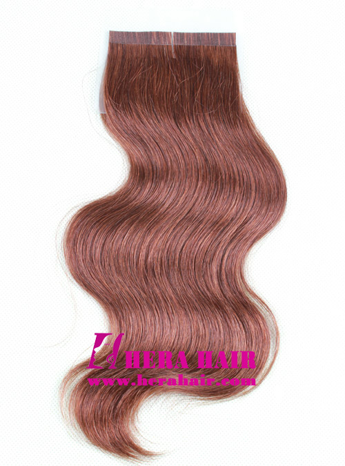 10 inches #3 Body Wave Brazilian virgin Tape In Hair Extensions