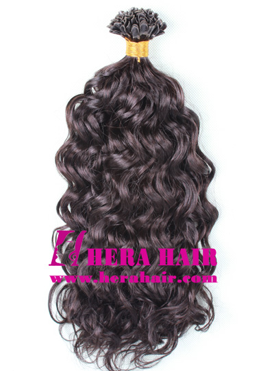 Curly Indian Virgin U-tip Fusion Hair Extensions