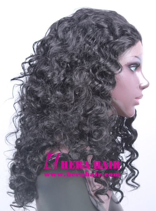 Hera Curly Black Korean Synthetic Lace Front Wigs