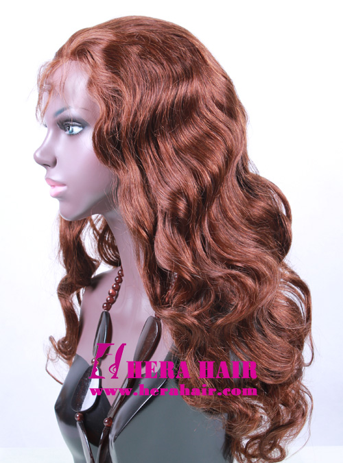 Custom 20 Inches 150% Hair Density Indian Full Lace Wigs