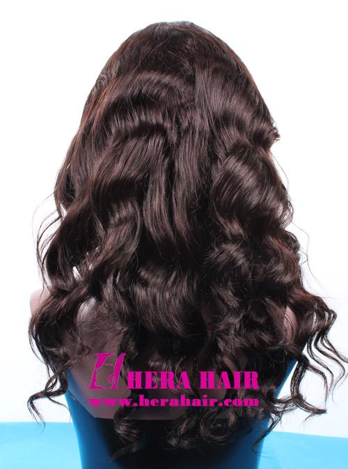 Hera body wave #2 dark brown Brazilian full lace wigs