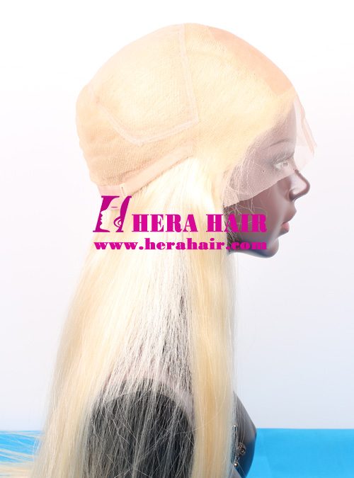 Silk top full lace wigs with adjustable strip on back