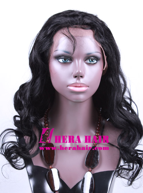 Hera Custom Wavy Black Brazilian Hair Full Lace Wigs