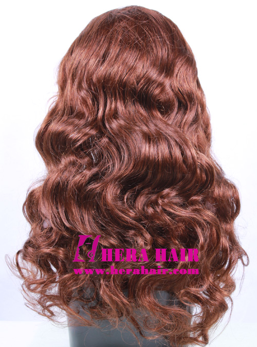 Custom 20 Inches Body Wave Brown Indian Full Lace Wigs
