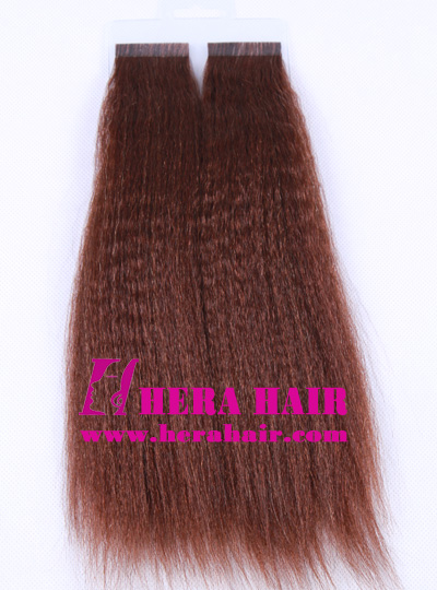 "10"" Kinky Yaki #3 Indian Tape Hair Extensions"