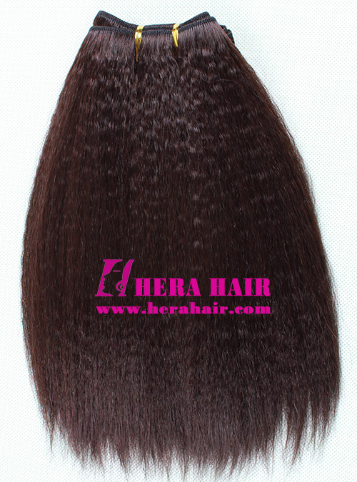 Kinky Yaki Chinese Remy Hair Weaves 10inches #2