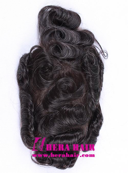 Full Lace Cap Mens Toupees HHT5 Front