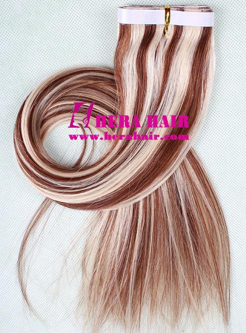 Strip Piano Color 6/613 Brazilian Virgin Tape Hair Extensions