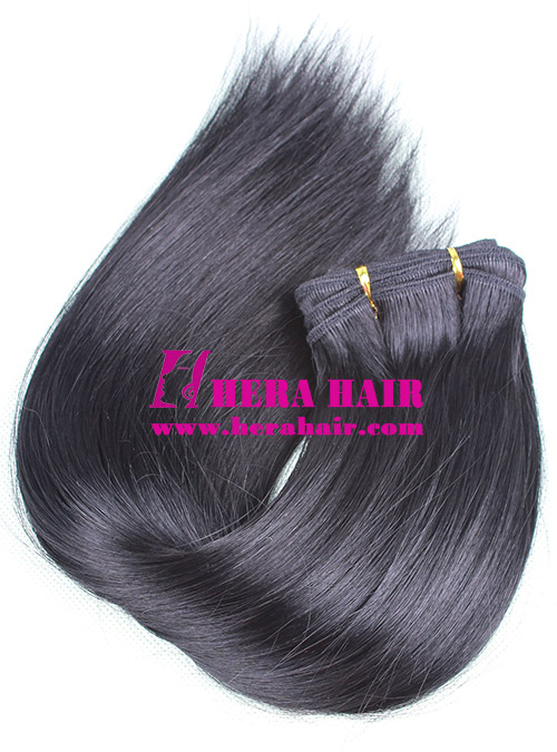 Silky Straight Black Machined European Hair Weaves