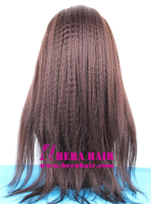 Wonderful African American Kinky Yaki Full Lace Wigs