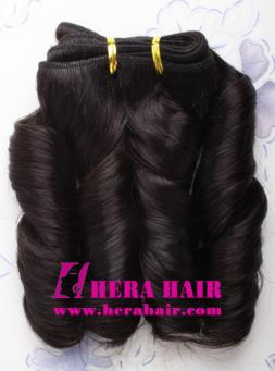 "10"" #1B Machined Indian Remy Hair Weave Extensions"