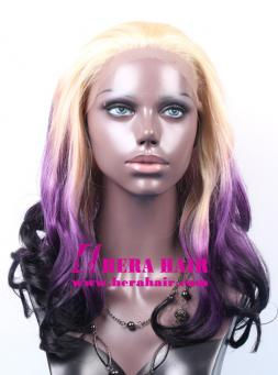 Hera 16 inches ombre color synthetic lace front wigs