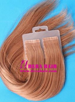 16 inches #10 Malaysian Double Needle Tape In Hair Extensions