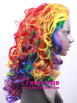 Rainbow Widow Synthetic Lace Front Wigs