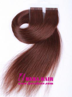 20 inches #4 Chinese Virgin Glue Tape In Hair Extensions