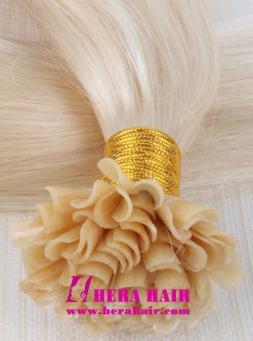 Hera #613 Blonde Nail Brazilian Fusion Hair Extensions