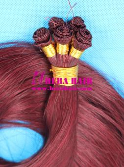 99J European Virgin Remy Hand Tied Hair Weaves