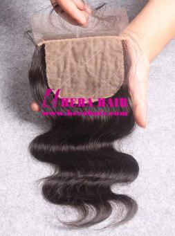 Wavy European Virgin Hair Silk Base Lace Closures