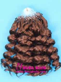 Wholesale Hera Curly Brazilian Virgin Micro Ring Hair Extensions