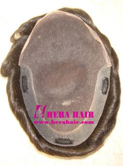 PU Side Lace Cap Mens Toupees HHT3