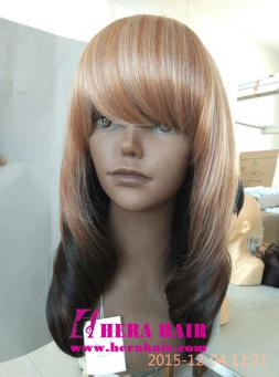 Hera Ombre Color Synthetic Hair Wigs with Bang