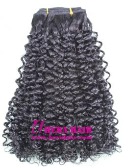 Kinky Curl Malaysian Virgin Remy Hair Weaves Extensions